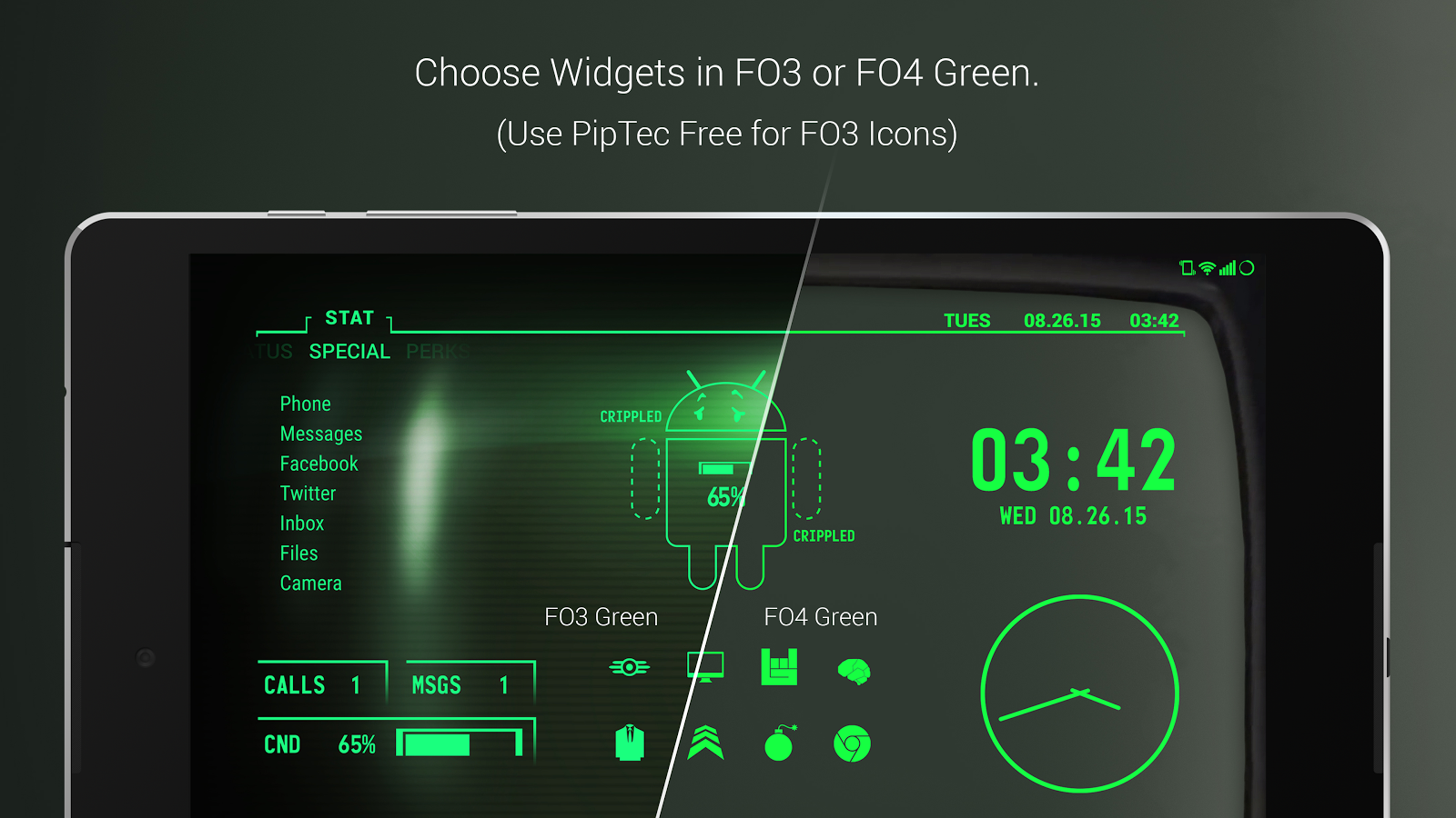 PipTec Pro - Green Icons & Live Wallpaper Screenshot 9