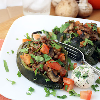Ground Meat Stuffed Poblano Peppers Recipes
