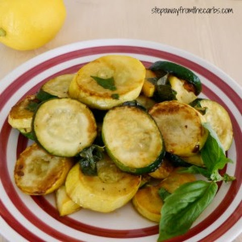 Sauteed Zucchini and Yellow Squash with Lemon and Basil