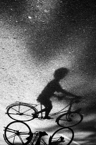Biker Shadow by Irfan Maulana - City,  Street & Park  Street Scenes ( sepeda, bike, shadow, bayangan, bicycle )