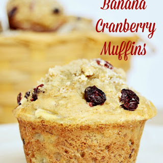 Dried Cranberry Banana Muffins Recipes