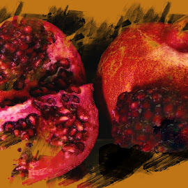 Pomegranate for Health 2 by Dave Walters - Typography Quotes & Sentences ( red, nature, fruit, pomegranate, lumix fz2500, food, colors )