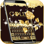 App Gold Keyboard theme Gold Rose APK for Windows Phone