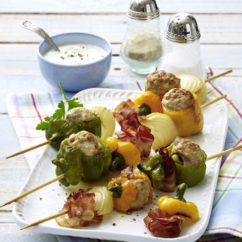 Skewered Stuffed Peppers