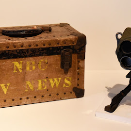 Antique News Camera  by Lorraine D.  Heaney - Artistic Objects Antiques