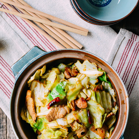 Chinese Shredded Cabbage Stir-Fry