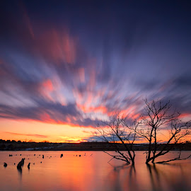 A night at the Lake by Ken Smith - Landscapes Sunsets & Sunrises ( sunset, walnut creek, nebraska )