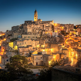 Matera by Nick Moulds - City,  Street & Park  Historic Districts ( night, town, dusk, matera, city )