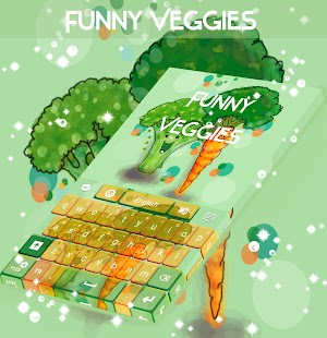 Funny Veggies Keyboard - screenshot