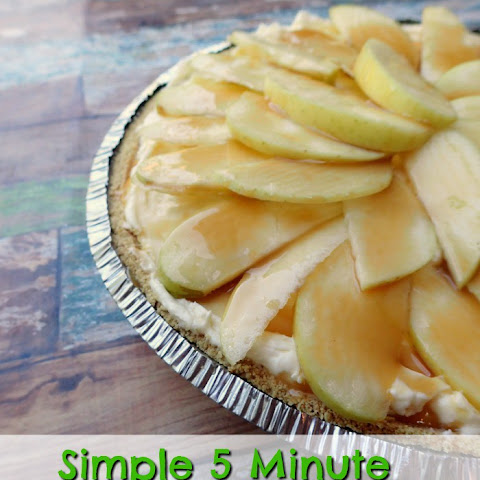 Simple 5 Minute Caramel Apple Cheesecake