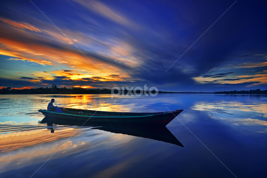 Reflection by Hendri Suhandi - Landscapes Waterscapes ( waterscape, sunrise, landscape, river, borneo )