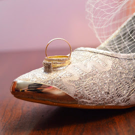 The shoes and rings by Rebekah Cameron - Wedding Details ( shoes, wedding, rings )