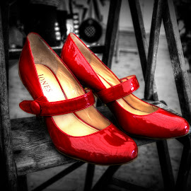 The Red Shoes by Heather Ryder - Artistic Objects Clothing & Accessories ( shoes, colour pop, red, artistic object, steps,  )