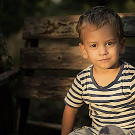 Heartbreaker by Esteban Rodriguez - Babies & Children Child Portraits ( love, seat, children, lines, portrait )