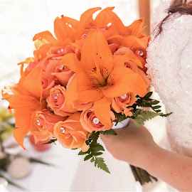 by Becky Welsh - Wedding Details ( orange, details, mexico, wedding, bride, flower )