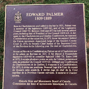 EDWARD PALMER1809-1889Born in Charlottetown and called to the bar in 1831, Palmer was a member of the legislature (1835-60), and of the Legislative Council (1860-73). Between 1848 and 1873 he held ...