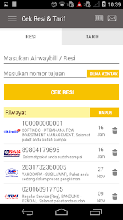 App Cek Resi dan Ongkos Kirim apk for kindle fire