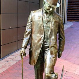 Man and his dog by Aaron Stephenson - Artistic Objects Still Life ( sculpture, statue, street scene )