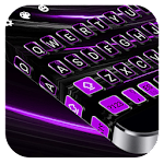 Black Purple Keyboard Icon