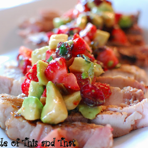 Grilled Pork with Strawberry Salsa