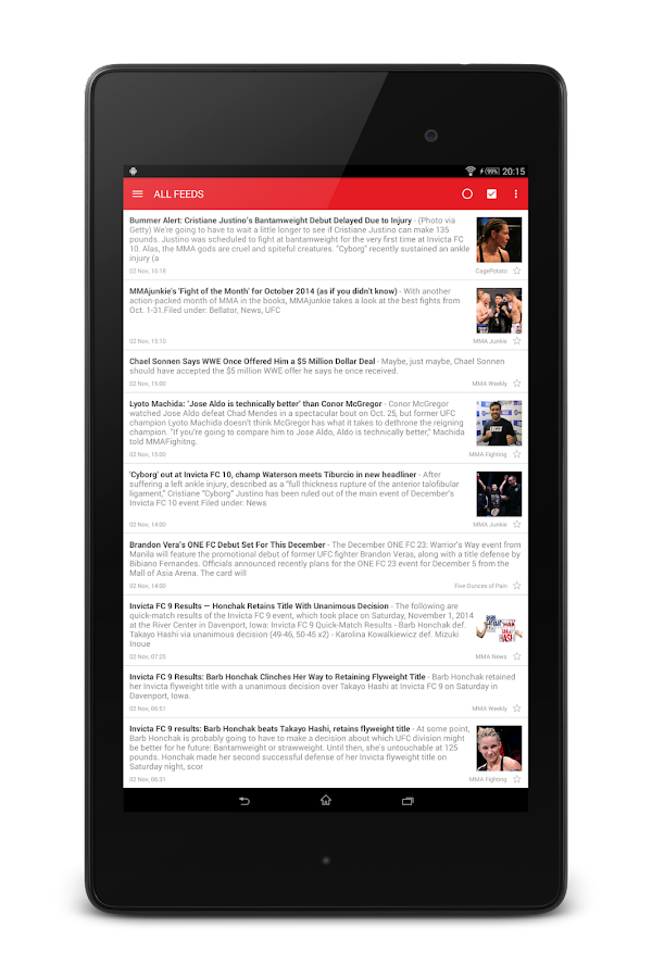 MMA News Pro Screenshot 11