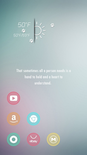 Beautiful sweet dream theme - screenshot