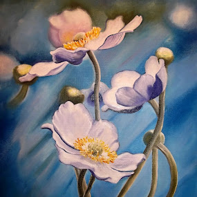 Flower by Kinga Fekete Kormos - Painting All Painting ( oil on canvas 35x50 cm )