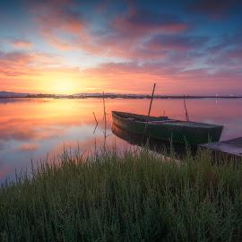 first light by Daniele Dessì - Transportation Boats ( sky, colors, boats, landscape, light )