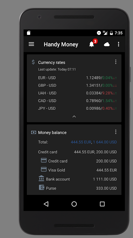 Handy Money - Expense Manager Screenshot 1