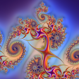 Fireworks by Cassy 67 - Illustration Abstract & Patterns ( swirl, wallpaper, digital art, harmony, spiral, fractalart, vitality, fractal, dance, digital, fractals )