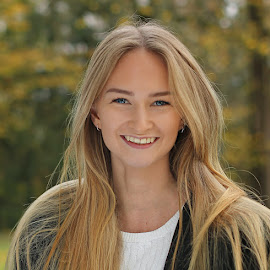 by Jane Bjerkli - People Portraits of Women ( girl, autumn, happy, woman, outdoors, fall, smile, hair, portrait, eyes )