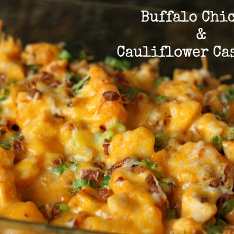 Buffalo Chicken & Cauliflower Casserole