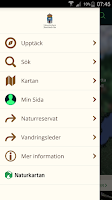 Screenshot of Jämtlands Naturkarta