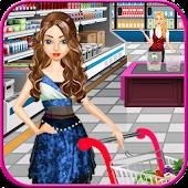Supermarkt einkaufen Mädchen