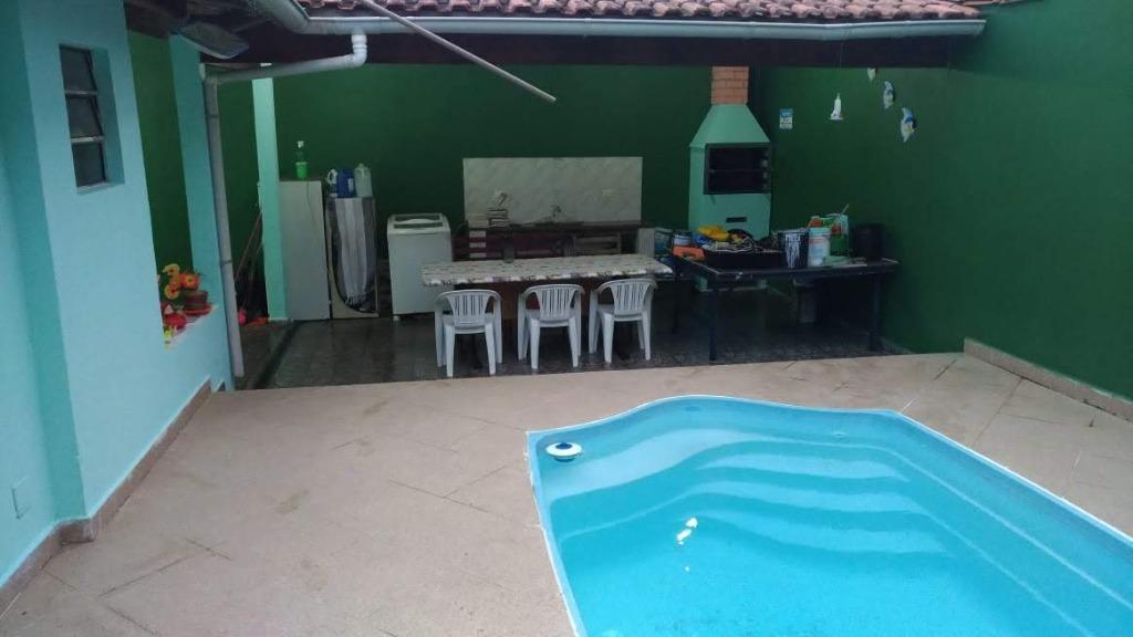 Casa com 2 dormitórios, piscina à venda, 120 m² por R$ 350.000 - Jardim Prados - Peruíbe/SP