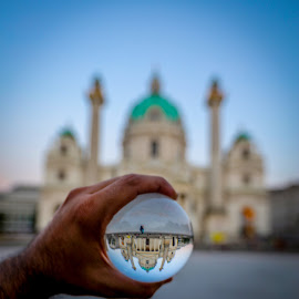 Karlskirche by Aamir DreamPix - Artistic Objects Glass ( buildings, vienna, europe, building, architecture )