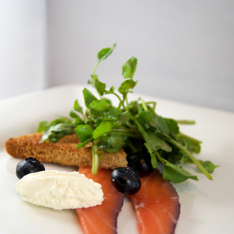 Blueberry and Gin Salmon Gravlax