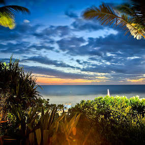Sunset view from my lazy day bed in Bali by Handoko Lukito - Landscapes Weather