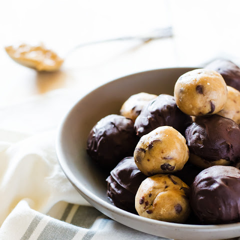 Peanut Butter Chocolate Chip Cookie Dough Truffles