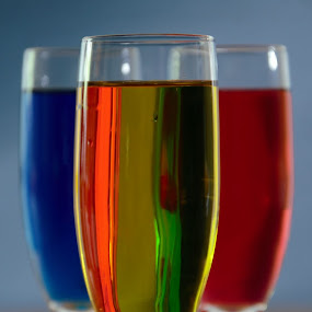 Colored Water by Steve Edwards - Artistic Objects Glass ( champagne glasses, glass, artistic objects )