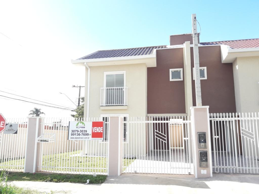 Sobrado com 3 dormitórios à venda, 77 m² por R$ 235.000 - Nações - Fazenda Rio Grande/PR