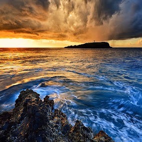 Cloudy Morning in Bug-Bug by Hendri Suhandi - Landscapes Cloud Formations ( karangasem, bali, cape, cliff, cloudy, cloud, sunrise, beach )