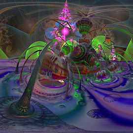 Martha's Hideaway by Rick Eskridge - Illustration Sci Fi & Fantasy ( fantasy, jwildfire, mb3d, fractal, twisted brush )