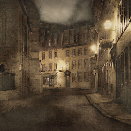 Days of yore by Sue Connor - Digital Art Places ( digital art, street,  )