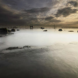 Misty morning by Andrika Wijayanti - Landscapes Waterscapes ( dawn, waterscape, sunrise, beach, morning, misy )