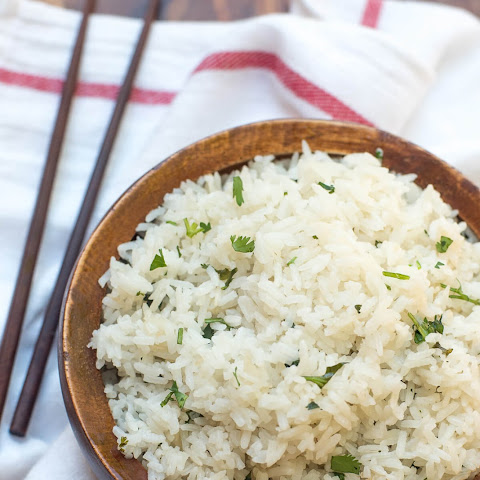 Coconut Rice with Cilantro and Lime