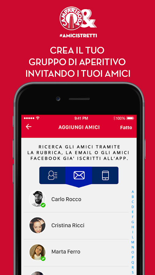 AmiciStretti Screenshot 1
