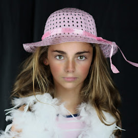 Pretty in Pink Hat by Sean Haley - Babies & Children Child Portraits