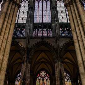 Cathedral by Varok Saurfang - Buildings & Architecture Places of Worship ( glass, columns, windows, cathedral, stained glass )