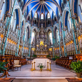 serenity  by Roland Bast - Buildings & Architecture Places of Worship ( canada, church, blue, zen, cathedral )